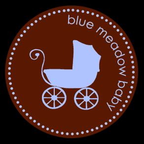 New blue meadow baby logo